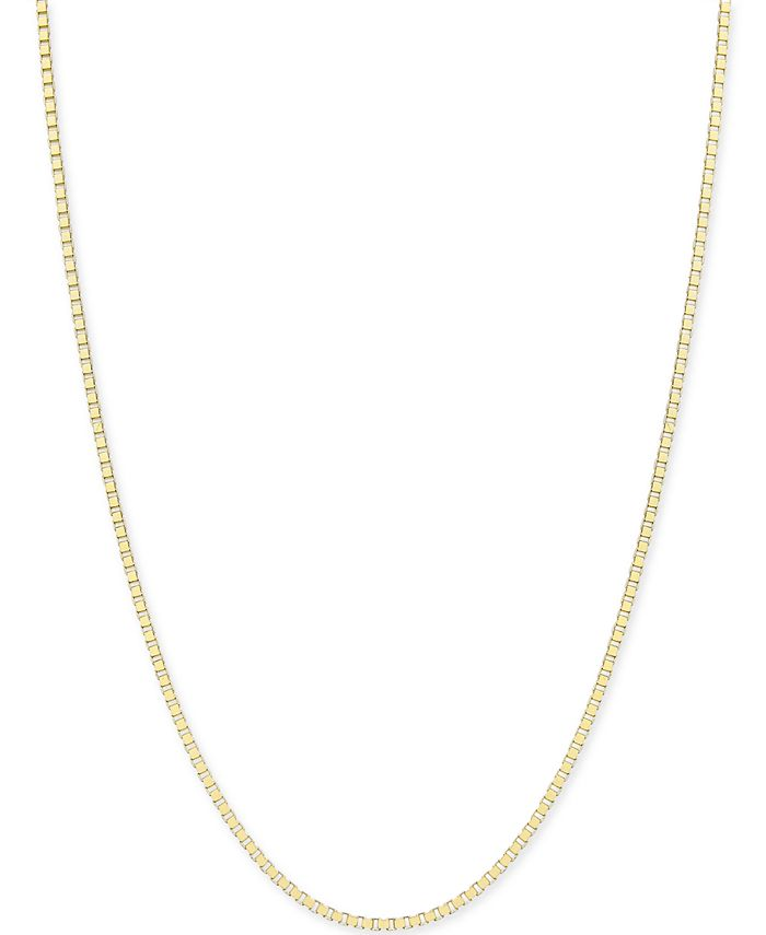 Macy's - Box-Link Chain Necklace in 14k Gold