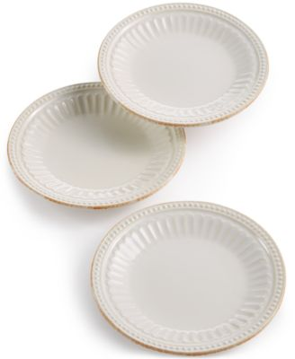 Lenox French Perle Groove Collection Stoneware 3-Pc. Mini Plates Set