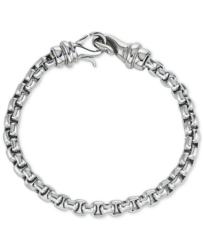 Macy's - Linked Bracelet in Stainless Steel