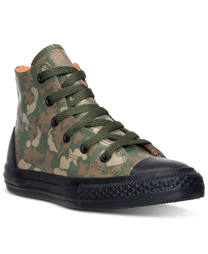 Converse - Little Boys' Chuck Taylor All Star Hi Rubber Camo Casual Sneakers from Finish Line
