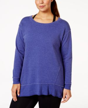 Calvin Klein Performance Plus Size Long-Sleeve Active Sweatshirt
