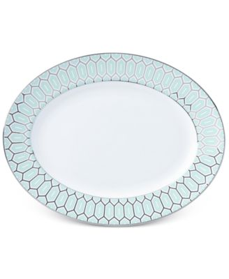 Brian Gluckstein by Clara Aqua Bone China Oval Platter