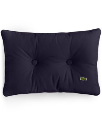 "Lacoste Padded Button 12"" x 18"" Decorative Pillow"