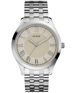 Guess Men's Stainless Steel Bracelet Watch 44mm U0476G2