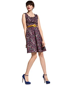 Macy*s - Purple - Ruby Rox Floral-Print Bib Dress
