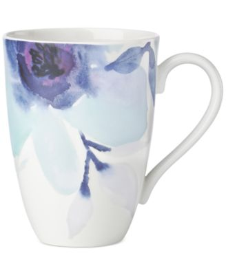 Lenox Indigo Watercolor Floral Porcelain Mug, A Macy's Exclusive Style