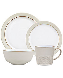 Denby Natural Canvas Stoneware 4-Piece  Place Setting