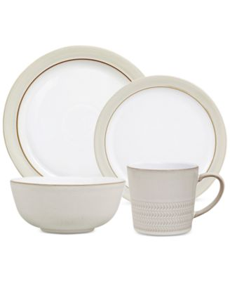 Denby Natural Canvas Stoneware 4-Pc. Place Setting