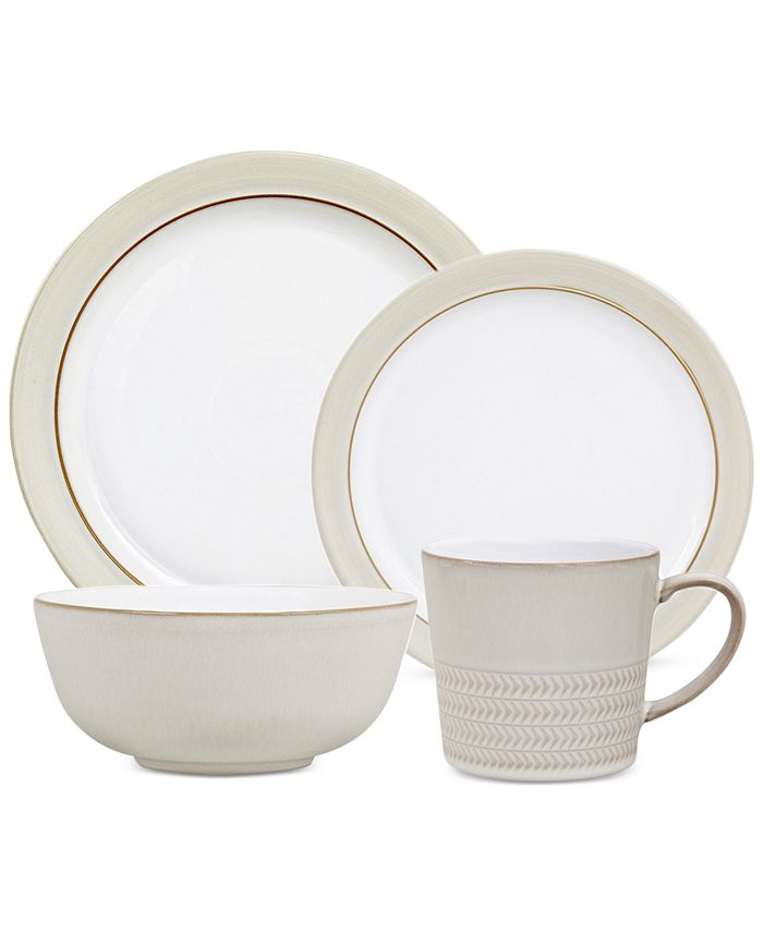 Denby - Natural Canvas Collection Stoneware 4-Pc. Place Setting