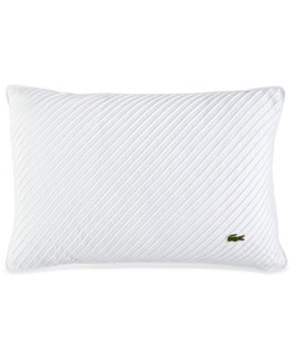 "Lacoste Home Pleated Stitched 12"" x 18"" Decorative Pillow"