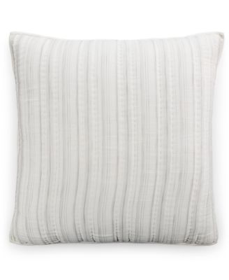 Hotel Collection Linen Fog Quilted European Sham, Only at Macy's