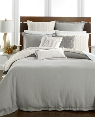 Hotel Collection Linen Fog King Duvet Cover, Only at Macy's