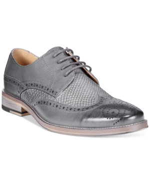 Bar Iii Striker Mixed Media Wingtip Oxfords, Only at Macy's Men's Shoes