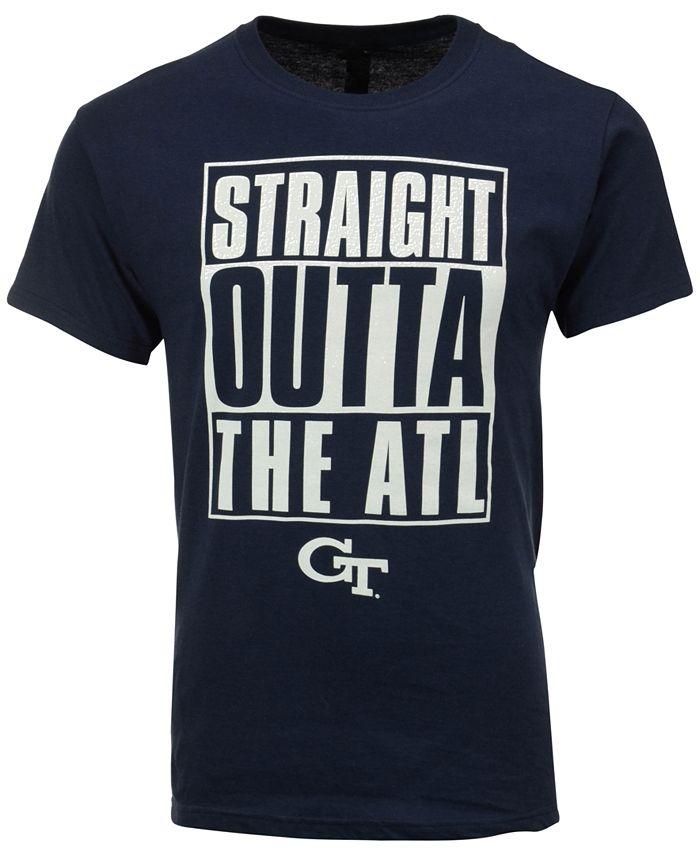New World Graphics - Men's Georgia Tech Yellow Jackets Straight Outta T-Shirt