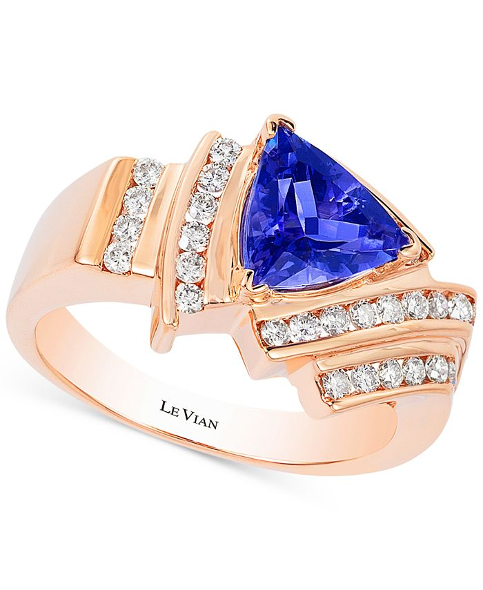 Le Vian - Tanzanite (1-1/3 ct. t.w.) and Diamond (1/2 ct. t.w.) Ring in 14k Rose Gold