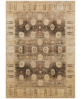 "Loloi Anastasia AF-09 Coffee/Gold 6'7"" x 9'2"" Area Rug"