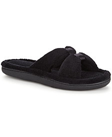 Isotoner Signature Women's Micro Terry X-Slide Slippers