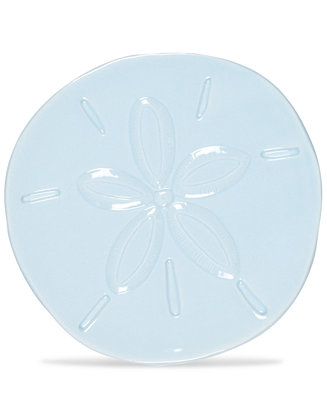 Fitz And Floyd Cape Coral Collection Light Blue Sand Dollar Snack Plate Reviews Dinnerware Dining Macy S