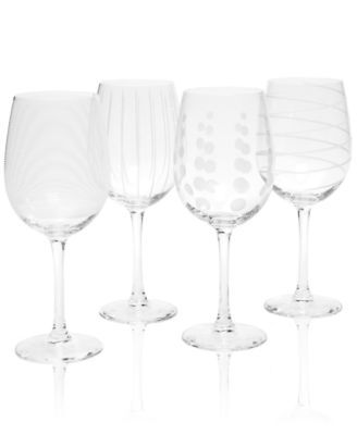 Glassware, Set of 4 Cheers White Wine Glasses
