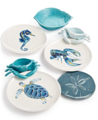 Cape Coral Collection Seahorse Accent Plate
