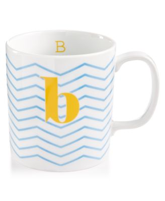 "The Cellar Chevron Initial Mug Collection ""B"" Mug, Only at Macy's"