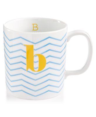 "The Cellar Chevron Initial Mug Collection ""B"" Mug, Only at Macy's"
