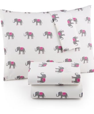 Whim by Martha Stewart Collection Novelty Print Cotton Percale King Sheet Set, Only at Macy's