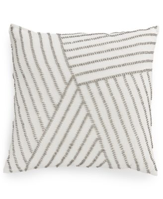 "Hotel Collection Linen Fog 18"" Square Decorative Pillow, Only at Macy's"