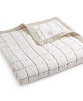 Hotel Collection Waffle Weave Full/Queen Coverlet, Only at Macy's