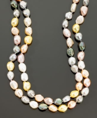 Fresh by Honora Multicolor Baroque Cultured Freshwater Pearl Strand
