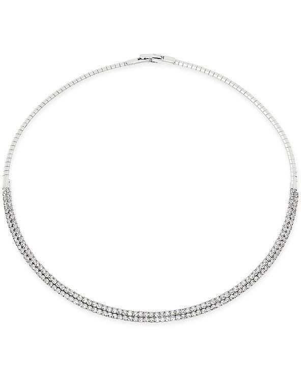 """INC International Concepts INC 16"""" Crystal Collar Necklace, Created for Macy's"""