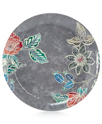 Home Design Studio Floral Melamine Dinnerware Collection Dinner Plate, Only at Macy's
