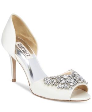 Badgley Mischka Candance Embellished d'Orsay Pumps Women's Shoes