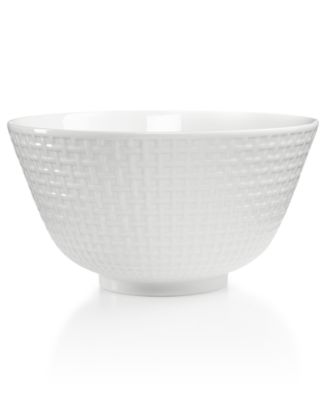 Martha Stewart Collection Whiteware Embossed Medium Bowl, Only at Macy's