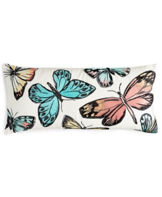Home Design Studio Beaded Butterfly Pillow, Only at Macy's