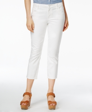Tommy Hilfiger Cropped Skinny Jeans, White Wash