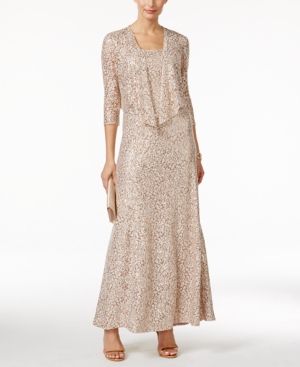 Alex Evenings Petite Embellished Lace Gown and Jacket $229.00 AT vintagedancer.com