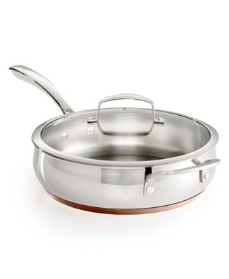 Belgique Copper Bottom 4-Qt. Saute Pan with Lid