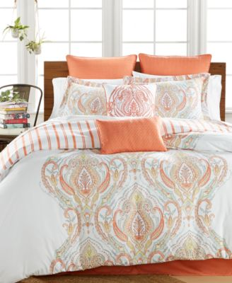 Jordanna Coral 8-Pc. King Comforter Set