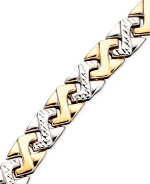 14k Gold & Sterling Silver Bracelet