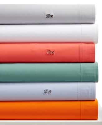 Lacoste Brushed Twill Wrinkle Resist Queen Sheet Set