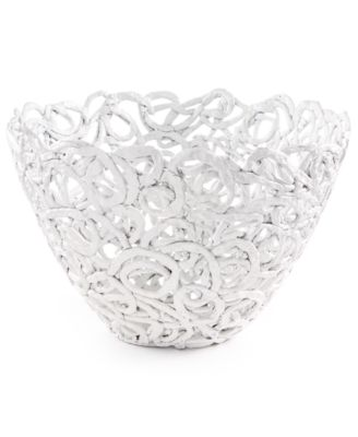 Global Goods Partners Swirled Papier Mache Bowl