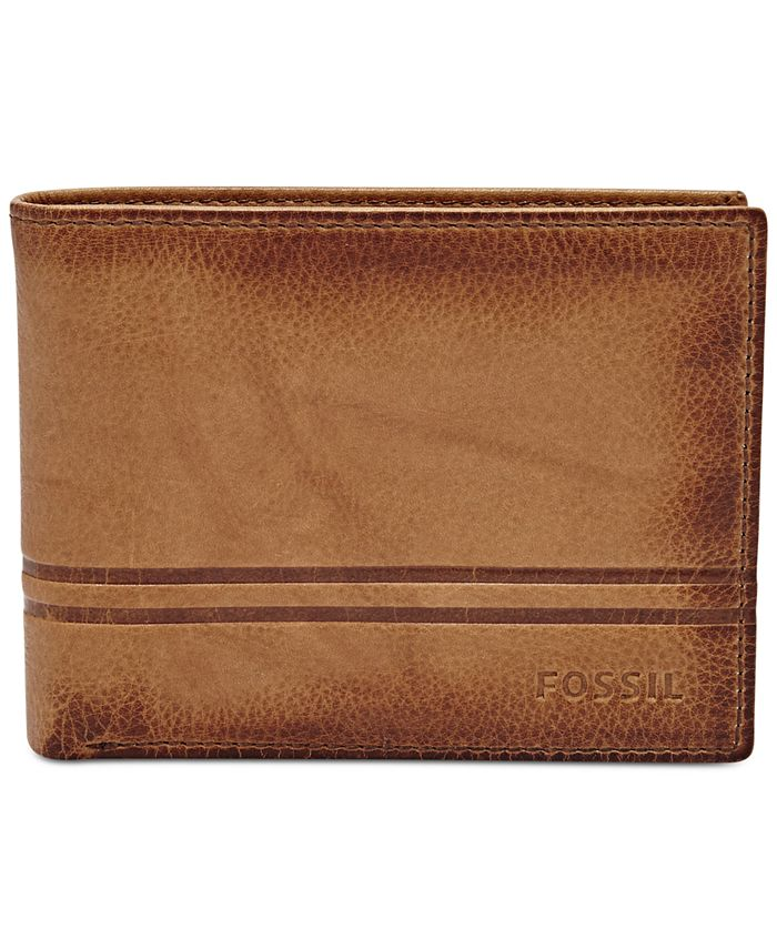 Fossil - Men's Watts Leather Bifold with Flip ID