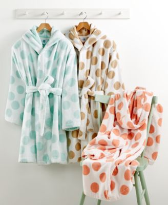 Martha Stewart Collection Dot Robe, Only at Macy's