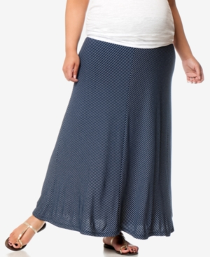 Motherhood Maternity Plus Size Striped Maxi Skirt plus size,  plus size fashion plus size appare