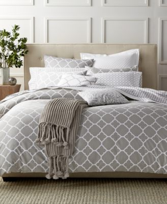 Charter Club Damask Designs Geometric Dove King Duvet Set, Only at Macy's