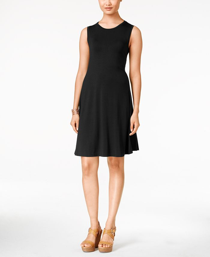 Style & Co - Sleeveless Solid Dress