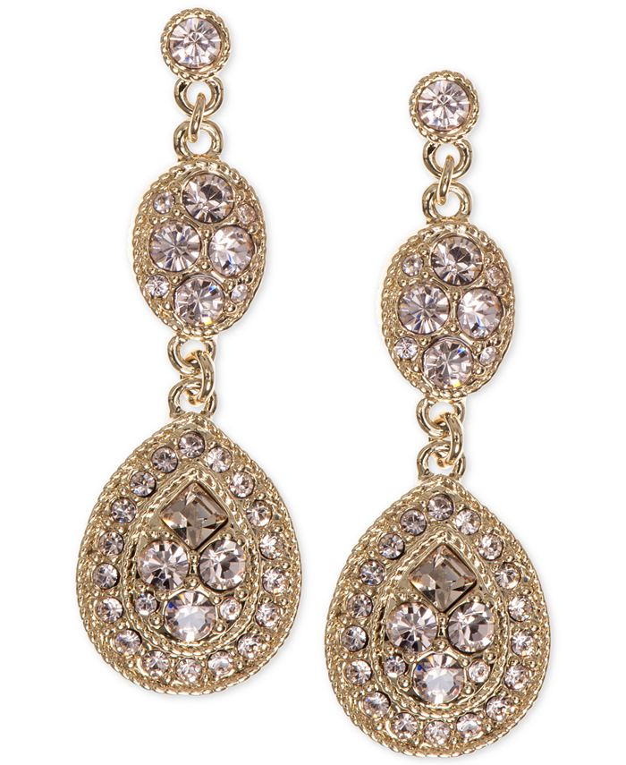 Givenchy - Earrings, Crystal Linear Teardrop