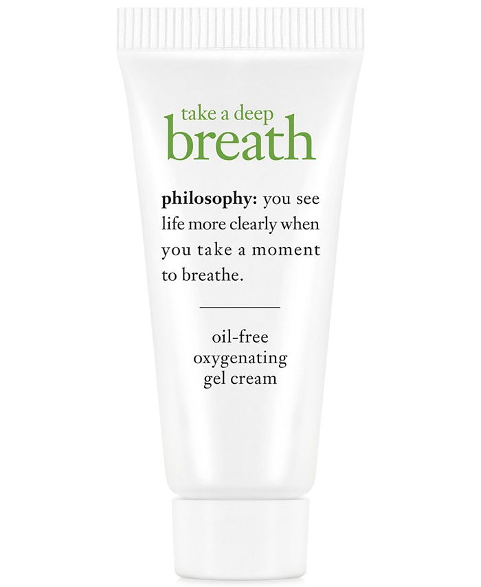 philosophy - Receive a FREE Take a Deep Breath Deluxe Oil-Free Oxygenating Gel Cream with any  purchase