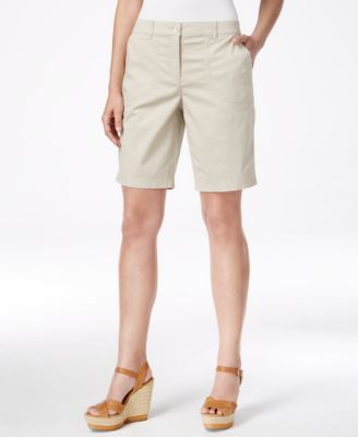 Image of Karen Scott Relaxed-Fit Bermuda Shorts, Only at Macy's